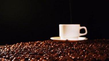 кофе в зернах — Стоковое видео