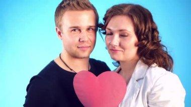 Romantic kiss — Stock Video