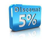 Five percent discount — Stock Photo