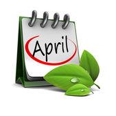 April calendar — Stock Photo