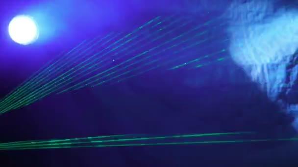 Espectaculo laser — Vídeo de stock