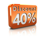 Forty percent discount — Stock Photo