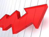 Big red arrow — Stock Photo