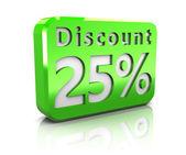 Twenty-five percent discount — Stock Photo