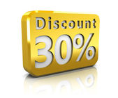 Thirty percent discount — Stock Photo