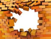 Broken wall — Stock Photo