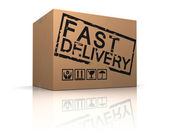 Fast delivery box — Stock Photo