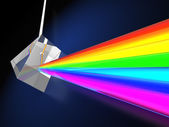 Prism with light spectrum — 图库照片