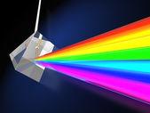 Prisma mit lichtspektrum — Stockfoto