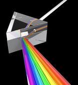 Prisma med ljus stråle — Stockfoto