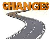 Road to changes — Stock Photo