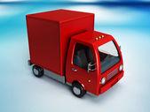Camion de livraison rouge — Photo