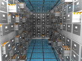 Data archive room — Stock Photo