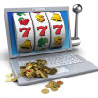 Golden jackpot — Stockfoto
