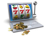 Golden jackpot — Stock Photo