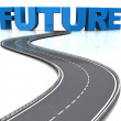 Road to future — Stock Photo