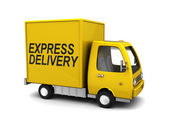 Express delivery truck — Stock Photo