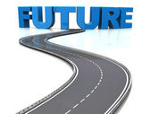 Camino al futuro — Foto de Stock