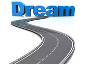 Road to dream — 图库照片