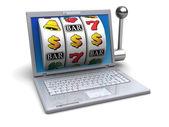 Computer jackpot — Stock Photo