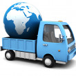 Royalty-Free Stock Photo: Global delivery