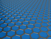 Trendy background with hexagons — Stock Photo