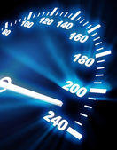 High rate on speedometer — Stock Photo