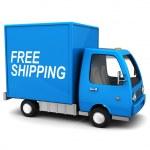Free shipping truck — Stock Photo