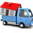 House transportation — Stock Photo