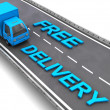 Free delivery sign — Stock Photo #26285953