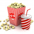 Food of cinema — Stock Photo