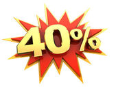 Special offer forty percent — Stock Photo