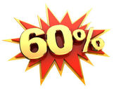 Special offer sixty percent — Stock Photo