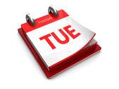 Calendar icon of tuesday — Stock Photo