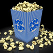Popcorn in box — Stockfoto