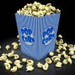 Popcorn in box — Stock Photo
