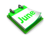 Calendar date is june — Stock Photo