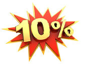 Special offer ten percent — Stock Photo