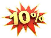 Specialerbjudande: tio procent — Stockfoto