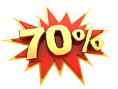 Special offer seventy percent — Stock Photo