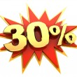 Special offer thirty percent — Stock Photo