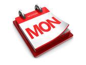 Calendar icon of monday — Stock Photo