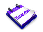 Kalenderdatum ist november — Stockfoto