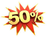 Specialerbjudande femtio procent — Stockfoto