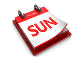 Calendar icon of sunday — Stock Photo