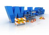 Website under constructions — Stock Photo