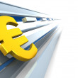 Stock Photo: Euro sign background