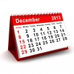 December 2013 calendar — Stock Photo