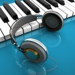 Music keyboard with headphones — Stock Photo #40118401