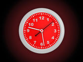 3d red clock — Stockfoto